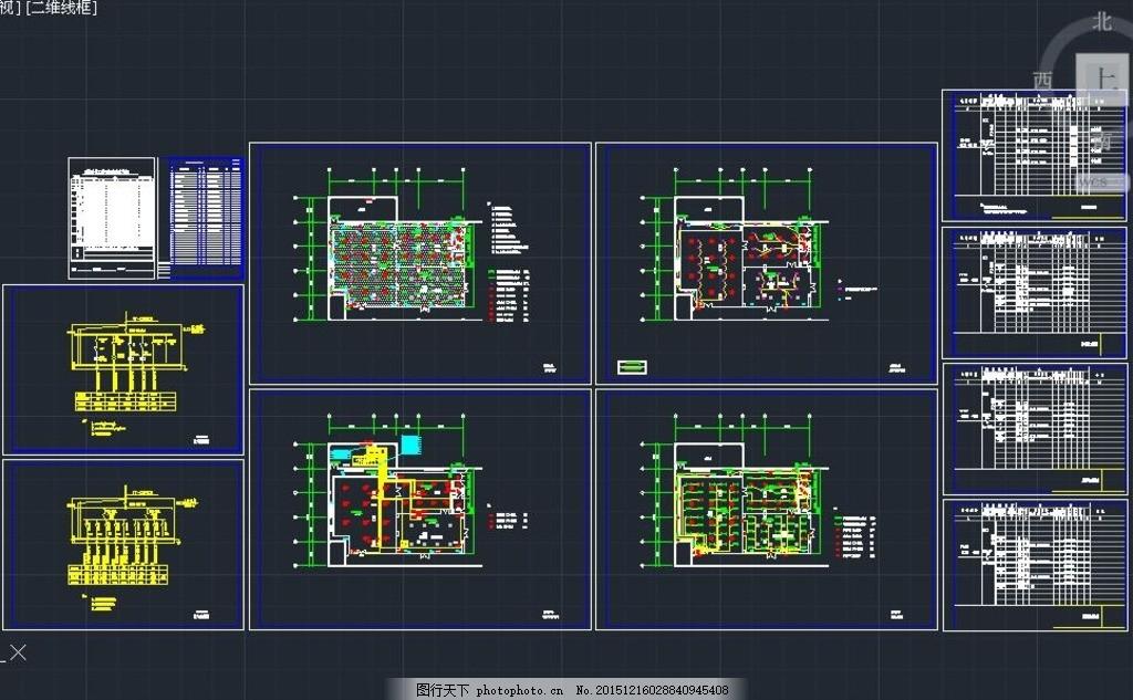 公司顶层净化工程电气图纸