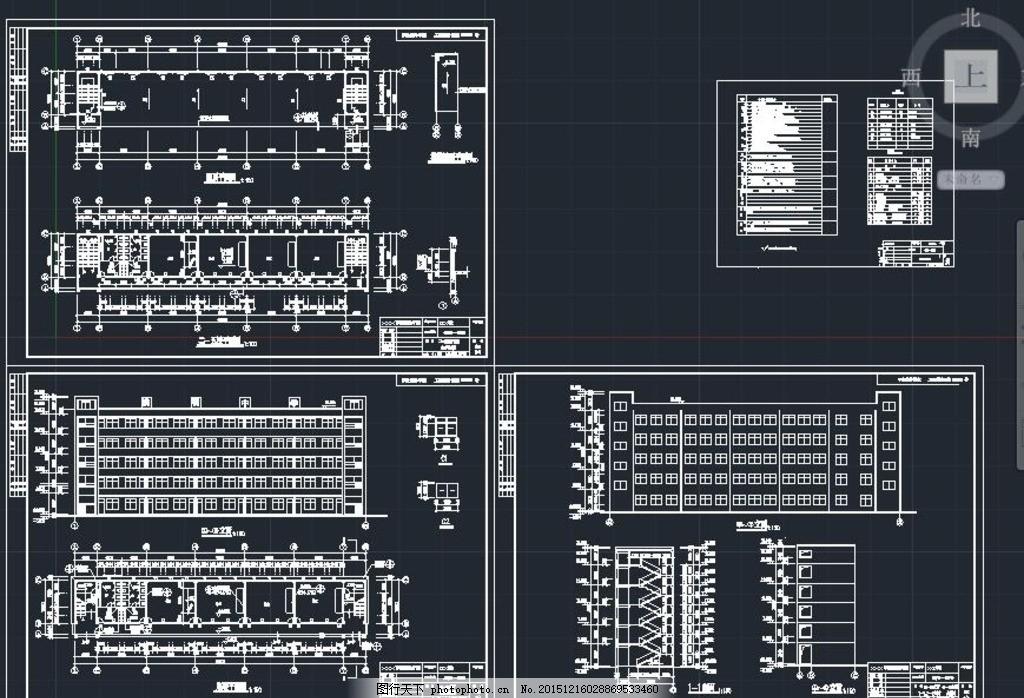 五层教学楼施工设计图纸