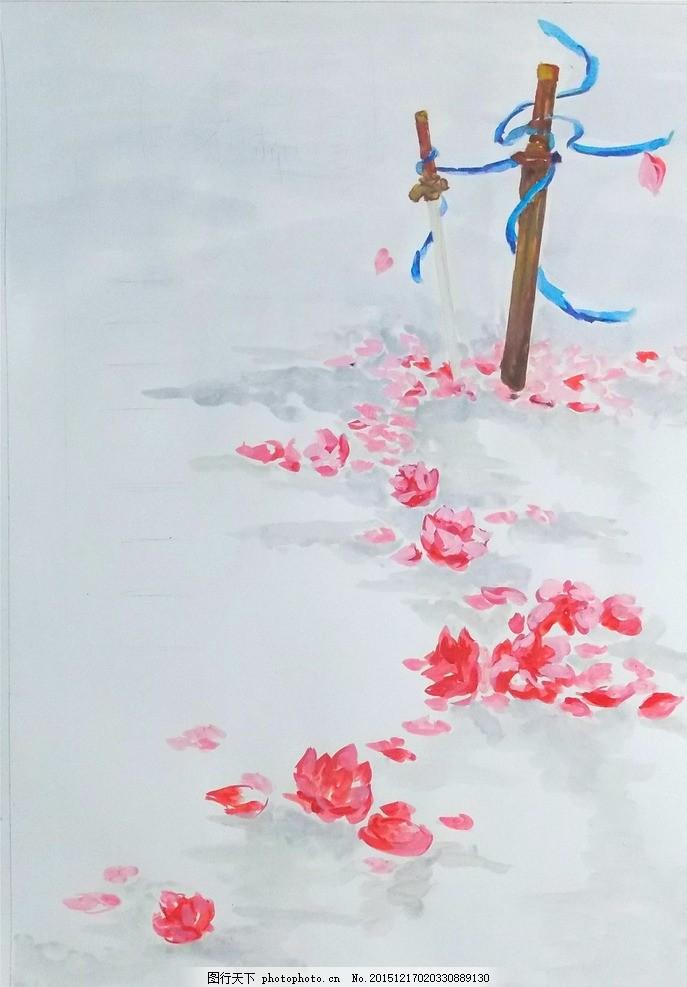 手绘海报背景 古风 海报 背景 手绘 花 设计 底纹边框 花边花纹 300dp