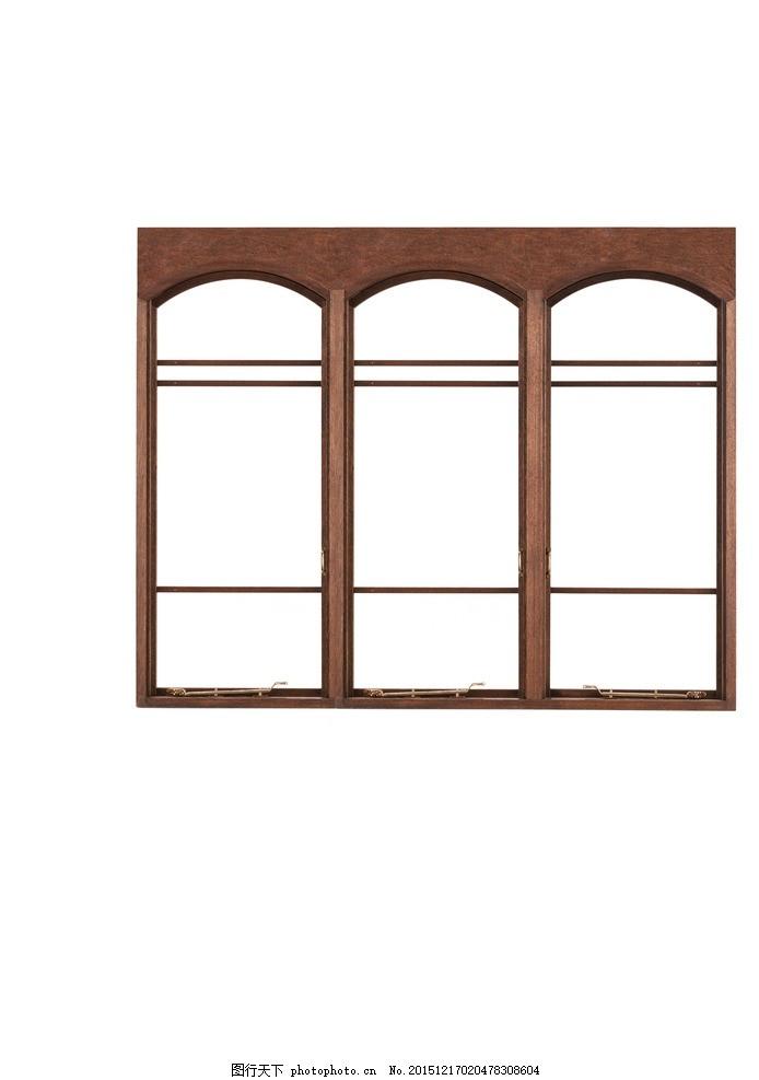 落地窗 木质窗 欧式落地窗 时尚窗台 红木色窗台