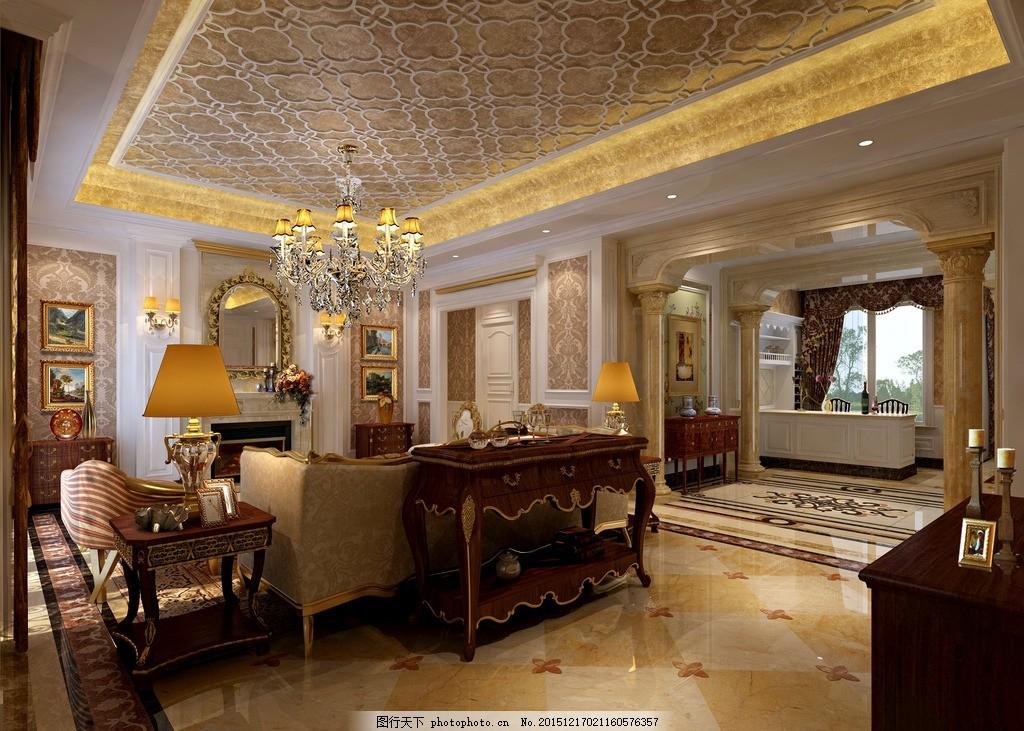 室内        三维 设计 房地产 装修 欧式 室内设计效果图 设计 3d