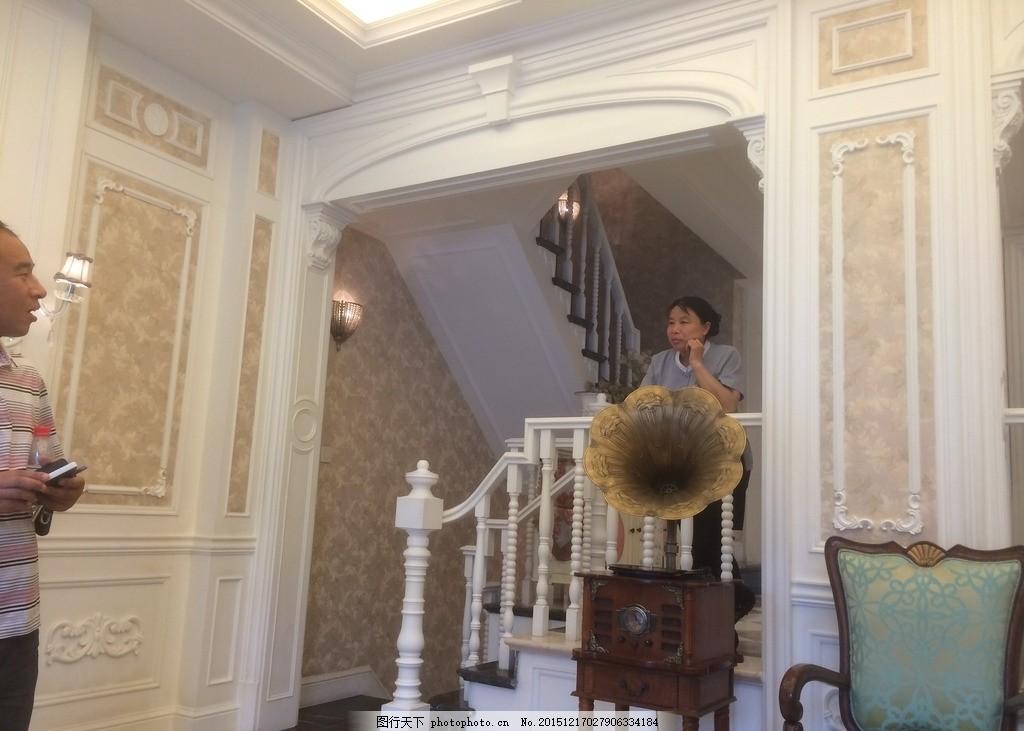 欧式楼梯口 简欧式哑口 白色欧式哑口 欧式风格装修 简欧式楼梯 家装