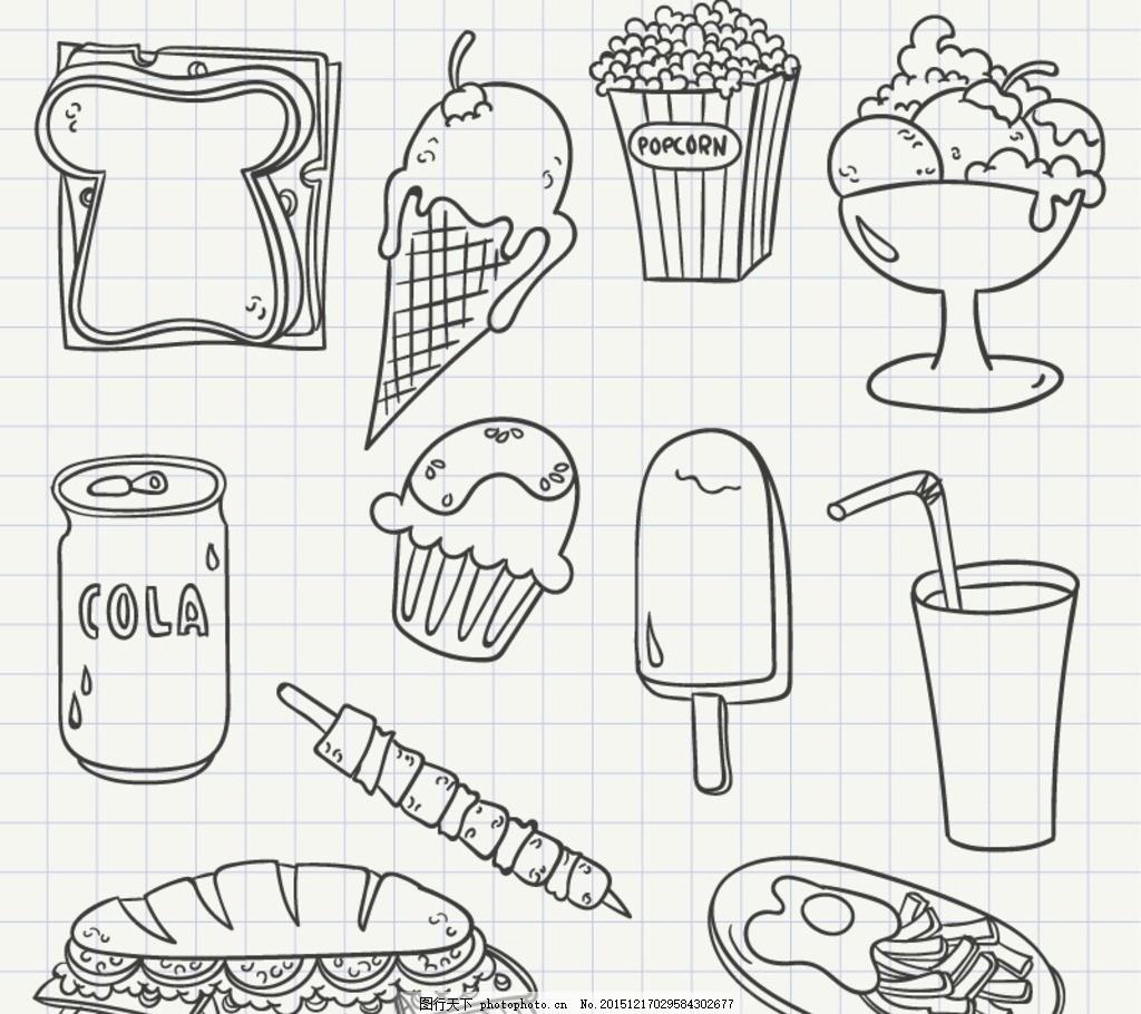 甜品简笔画图片大全
