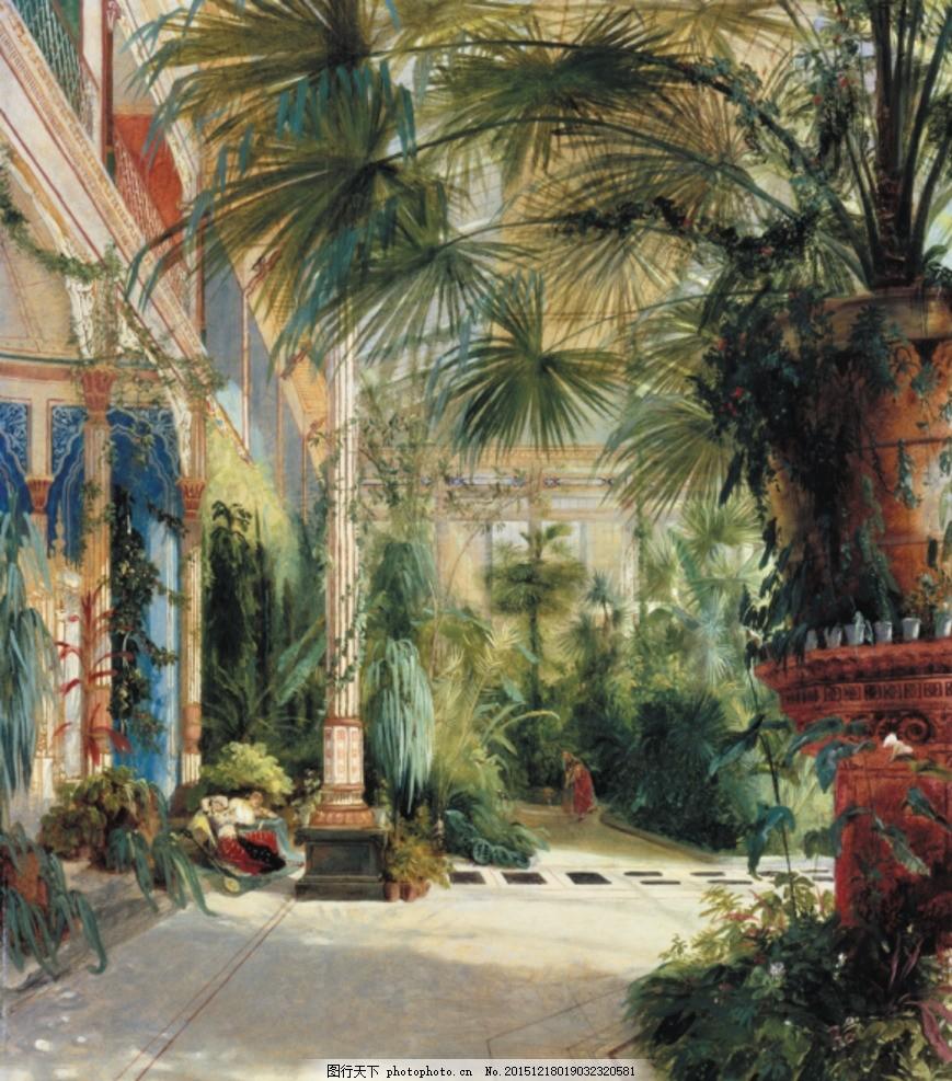 古典油画 油画风景 油画山水 风景油画 山水风景油画 欧式风景油画