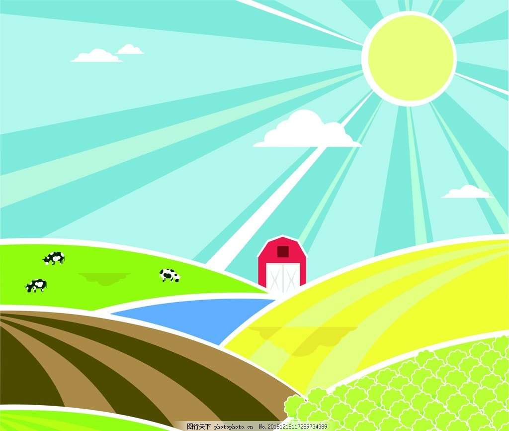 墙画2卡通 幼儿园 墙纸 矢量 小学 学校 自然景观 自然风光图片
