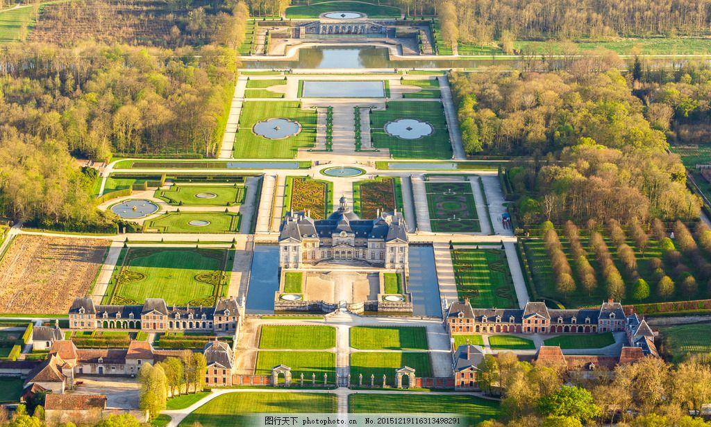 法国 公园俯视图 法国景色 国外景色 自然景观 自然风景 俯视摄影