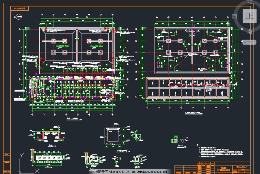 水池泵房设计图 消防水池 泵房施工 消防泵