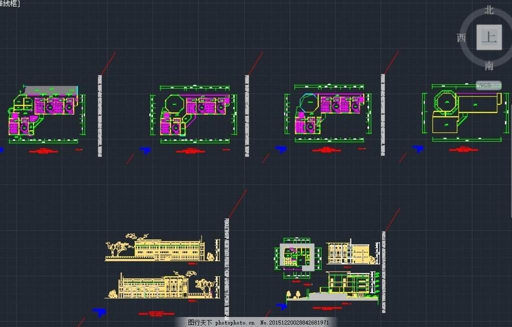 含商铺三层住宅楼施工设计图 居民楼 住宅楼设计 住宅楼图纸