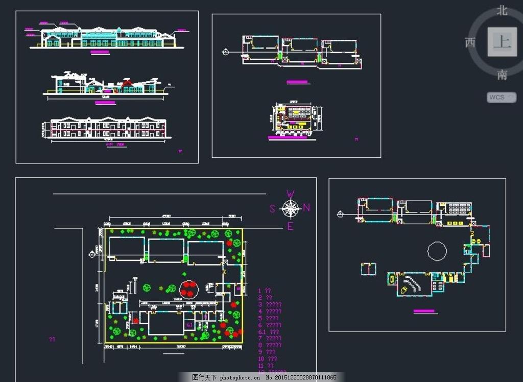 二层幼儿园顶尖经济型建筑设计图 欧式幼儿园 堡垒式幼儿园 幼儿教育