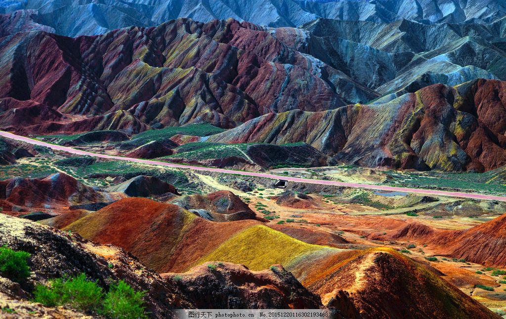 张掖旅游 甘肃 西北风光 张掖丹霞山 摄影 自然景观 自然风景 350dpi