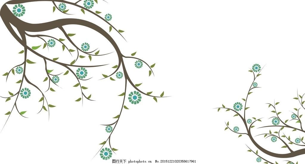 树枝绿叶花式图案 硅藻泥雕刻花 对角花 雕刻花 花式 液体壁纸 雕刻