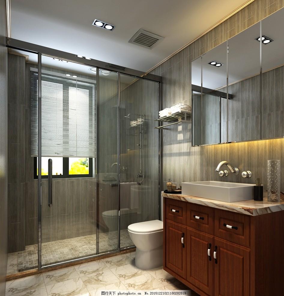 卫生间效果图               装修 中式 现代新古典 设计 3d设计 3d