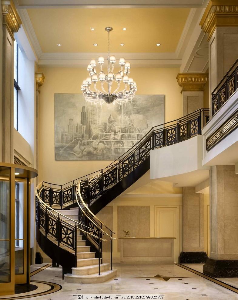 铁艺楼梯 铁艺雕花 雕花扶手 铁艺弧形楼梯 高清铁艺楼梯 摄影 建筑