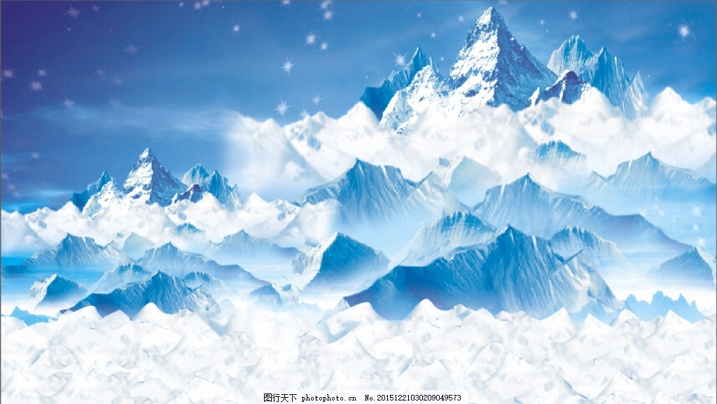客厅冰山风景画