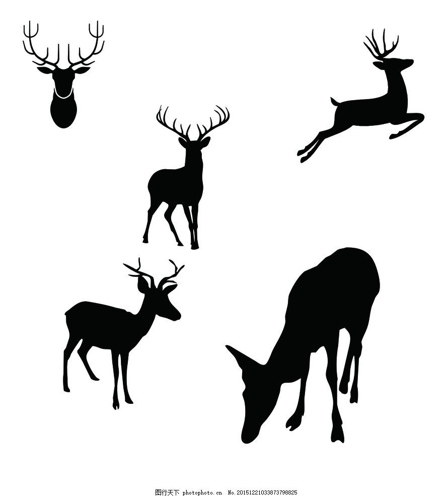 欧式鹿壁布贴图