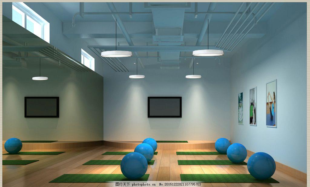 室内效果图 健身        健身房 室内 工装 公司 休息区 3d 设计 3d
