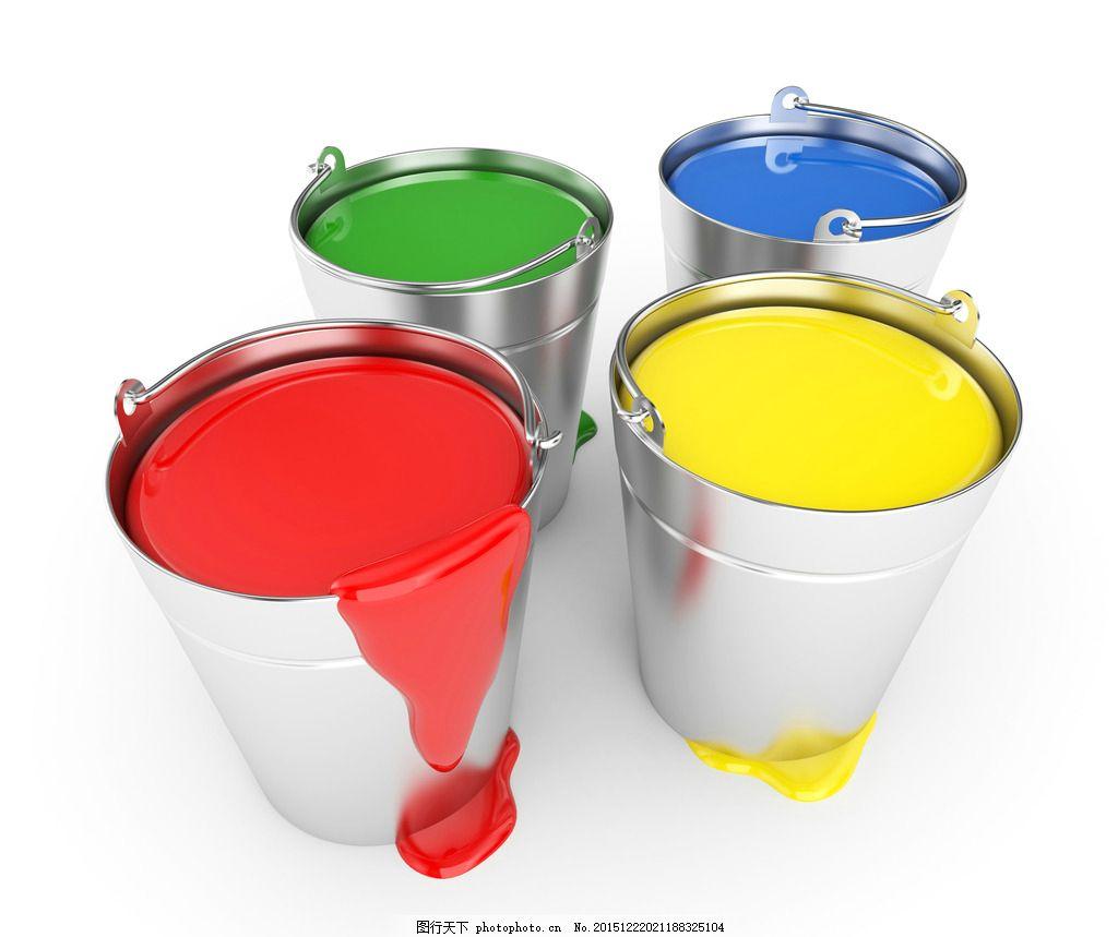 手绘水杯画彩色