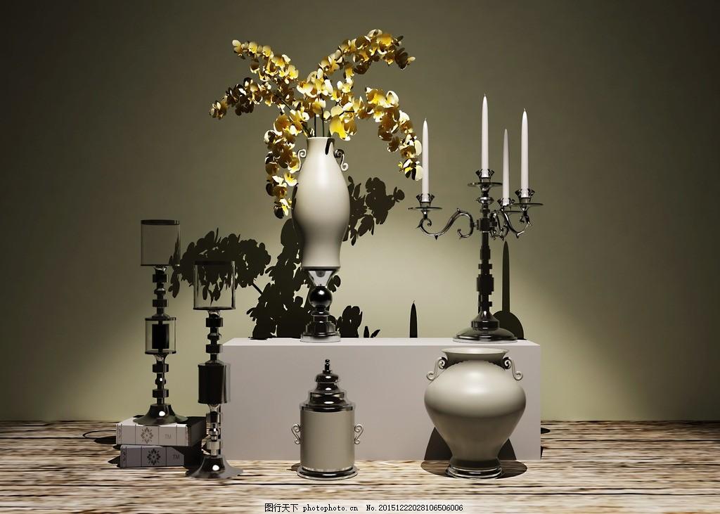 欧式烛台摆件花瓶