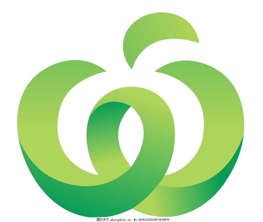 苹果logo 苹果 青苹果 矢量 矢量图制作 cdr 设计 个性化设计 图案