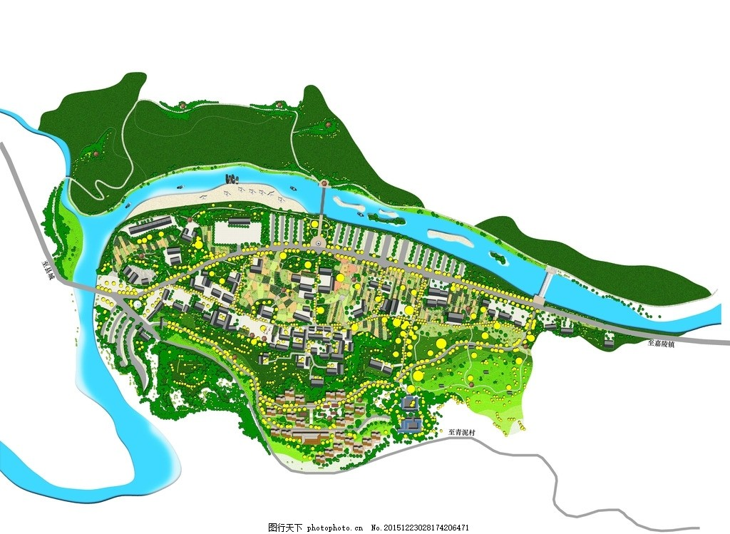 乡村规划,景观 建筑 乡村旅游 美丽乡村-图行天下图库