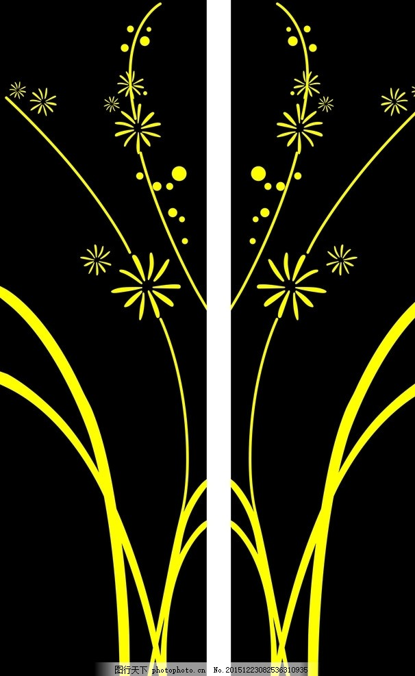 玻璃门花纹 玻璃门雕刻 玻璃门图案 雕刻花纹花边 雕刻花纹 花木雕刻