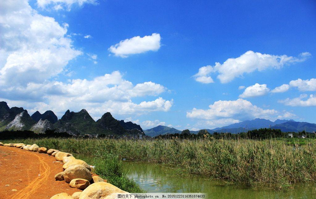 湿地芦苇 蓝天山水 山水 蓝天 蓝天白云 白云 云朵 白云朵 天空 晴空