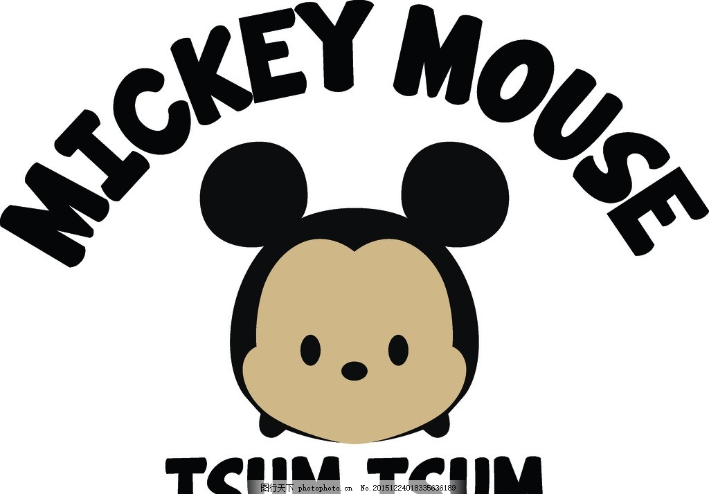 tsum系列米奇头 tsum 米妮 迪斯尼 卡通 米奇头 字母 设计 动漫动画