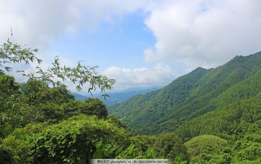 树木 青山 山凹 山坳 蓝天白云 自然景观 自然风景 自然风光 贺州风光