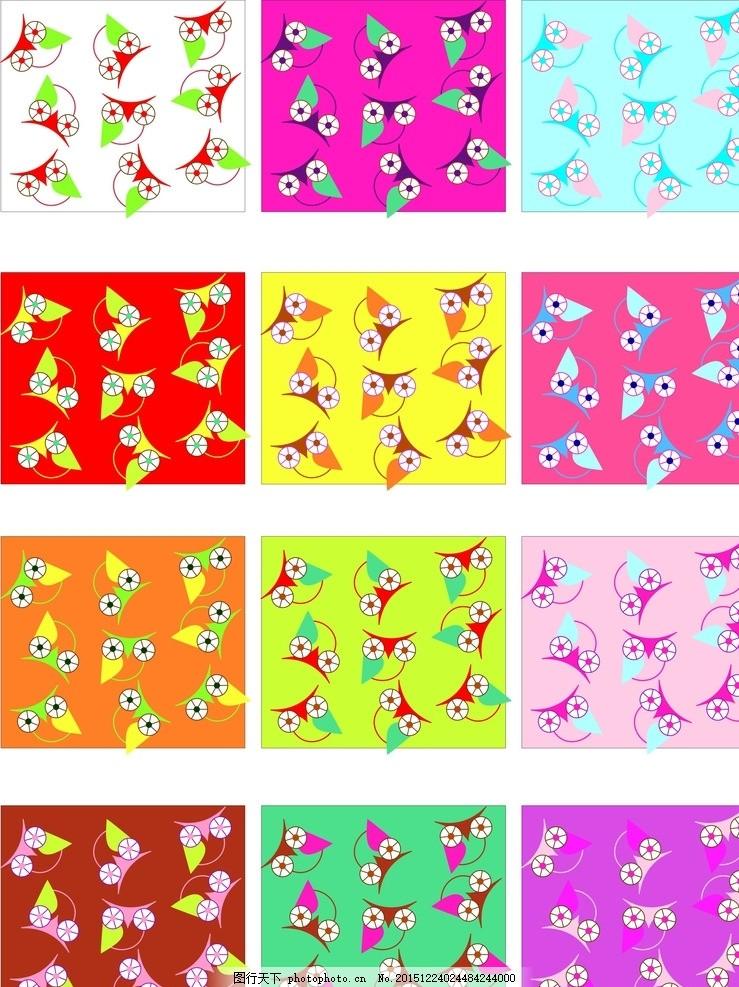 超可爱猫头鹰底纹 卡通动物 鸟类