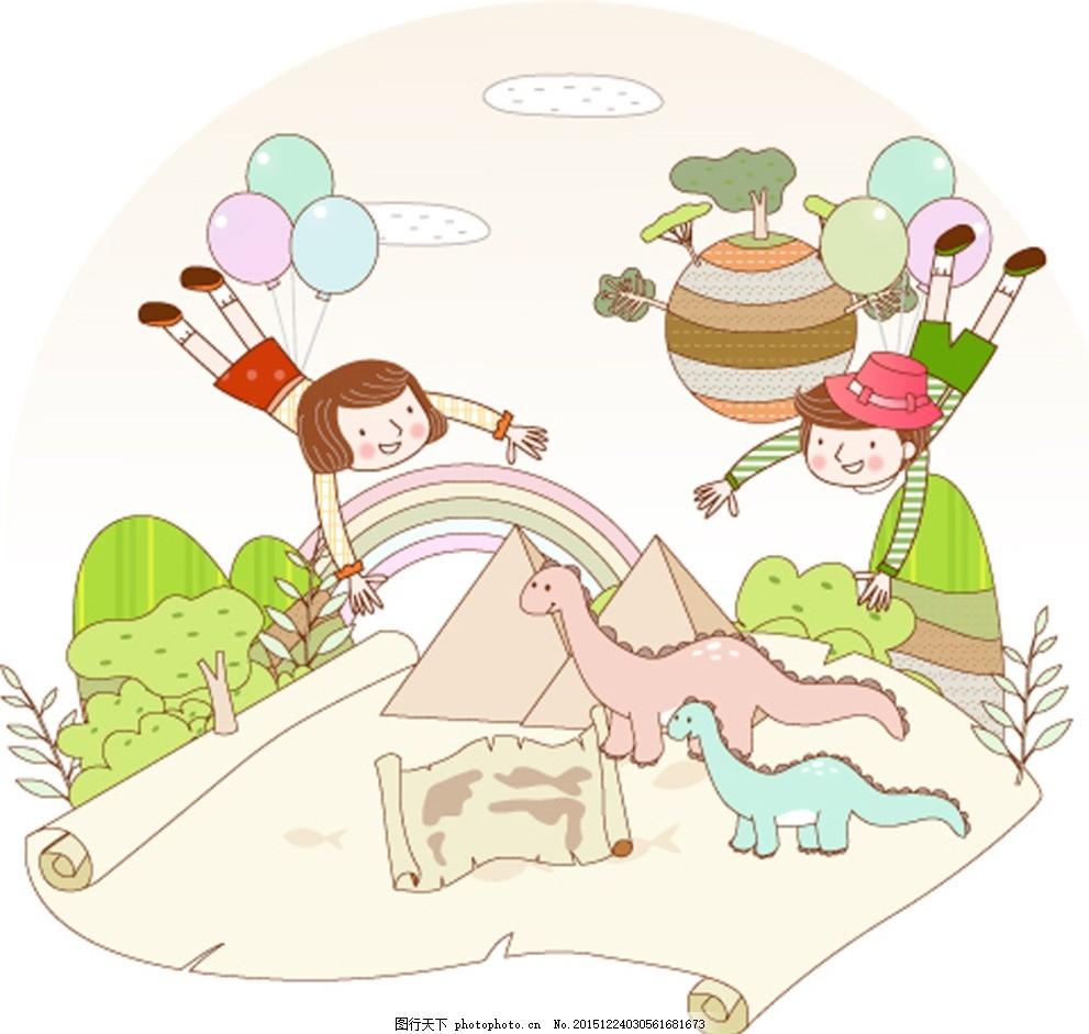 幼儿儿童 底纹背景 花纹花边 印花 服装印花 墙画 手绘 移门图案 设计