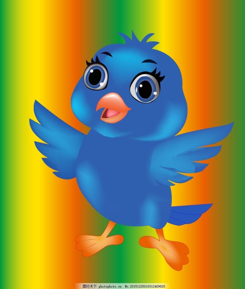 凤凰卡通小鸟 吉祥形象 设计凤凰 logo动物 可爱形象 卡通鸭子 可爱