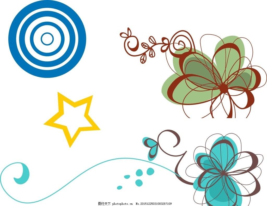 时尚花纹花朵 传统花纹 时尚花纹 韩式花纹 边框花纹 中式花纹 手绘画