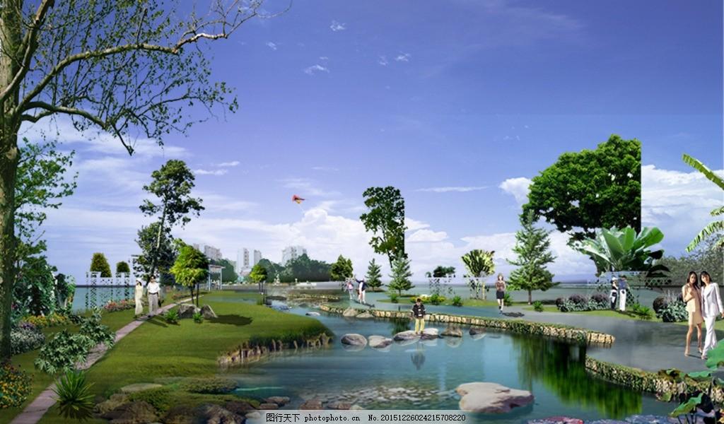 小區庭院 建筑 室外 風景 天空 景觀 園林