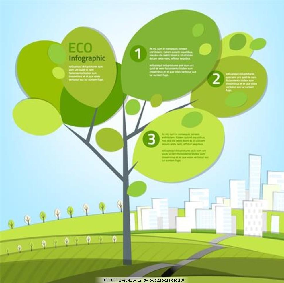 卡通大树 商务金融 质感 信息图表 大树 卡通树 树叶 茂盛 小树苗
