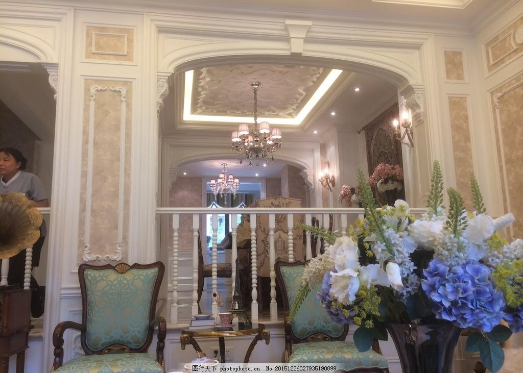 简欧式装修实景 欧式楼梯口 简欧式哑口 白色欧式哑口 欧式风格装修