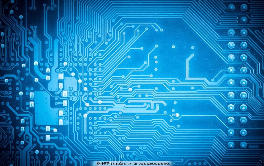 芯片背景 唯美 炫酷 科技 电子 集成电路