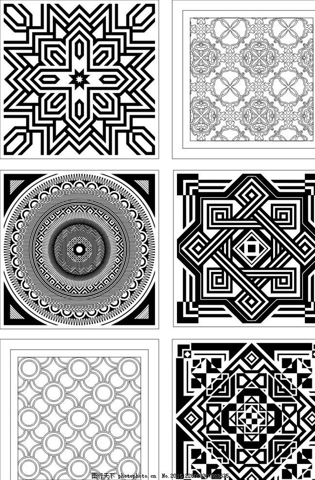 800瓷砖配件 花纹 暗纹 地毯花 拼花 花砖 矢量图 瓷砖花纹矢量图