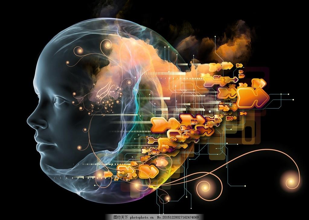 炫酷大脑背景 唯美 科技 科幻 模拟