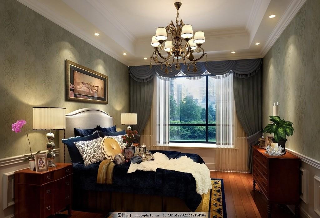 样板房 欧式 现代 主卧      房间 装修 复古 设计 3d设计 3d设计 120