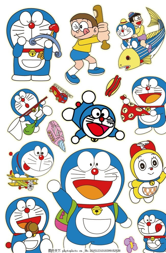 叮当猫 机器猫 哆啦a梦 大雄 集合 汇总 卡通 动漫 可爱 卡通动漫-正版哆图片